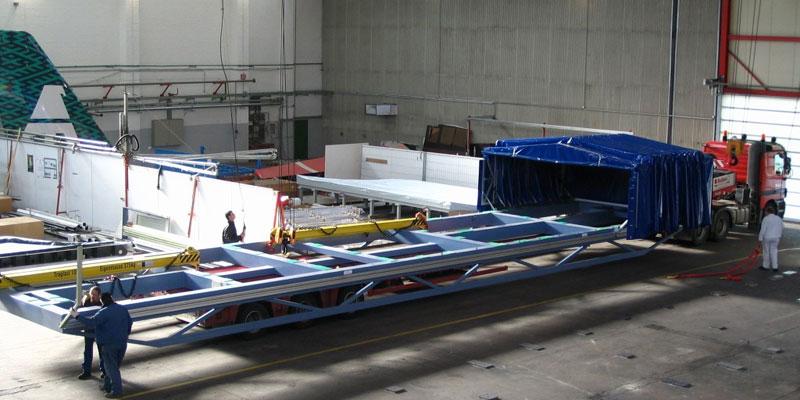 Flügel transport für Airbus (5,5 m width)