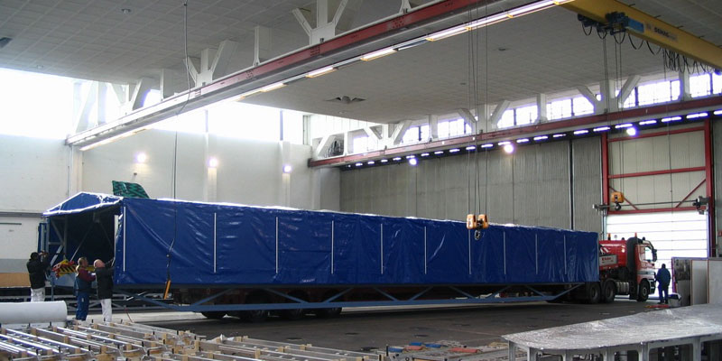 Wing tranport for Airbus (5,5m width) covered
